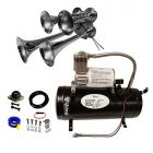 4 Trumpet 149 Decibels Train Sound Air Horn Kit