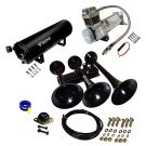 Super  Loud 152 Decibels black air Horn with 200 PSI, compressor, 3 Gallon tank  Kit