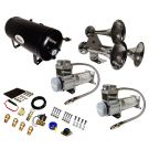 Super Loud 170 Decibels Train Air Horn Kit With DUAL 200 PSI Air Compressors