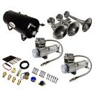Super Loud 172 Decibels Train Air Horn Kit With DUAL 200 PSI Air Compressors, V103C2X-6-12/311-1