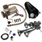 4 Trumpet 149 Decibels Black Train Sound Air Horn Kit